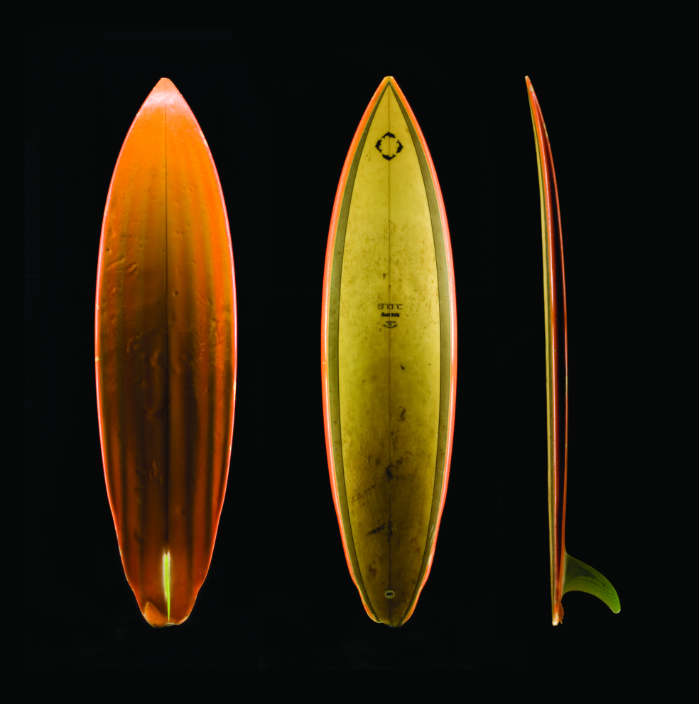 Shaped by Jim Pollard. 7&#8217;2 x 19 &#190; x 2 7/8 circa 1976 -1977